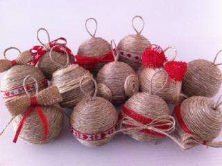 Palline di Natale fai da te con lo Spago | Il piccolo mondo di Lialì