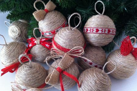 Decorazioni natalizie fai da te palline polistirolo