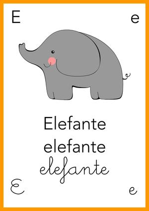 Impariamo l 39 alfabeto e come elefante il piccolo mondo - Elefante foglio di colore dell elefante ...