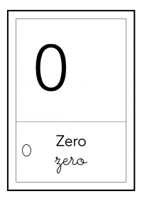 zero - bianco e nero