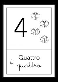 quattro - bianco e nero