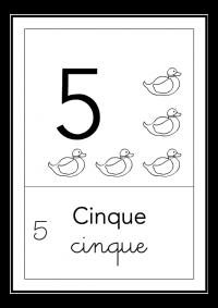 cinque - bianco e nero