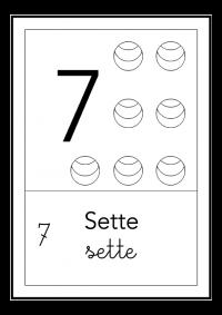 sette - bianco e nero