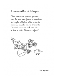 """Filastrocca """"Campanella di Pasqua"""""""