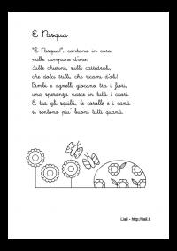 """Filastrocca """"E' Pasqua"""""""