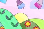 poesia sulla pasqua con un disegno da colorare