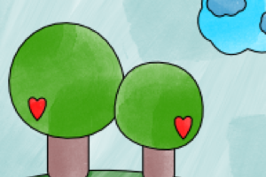 alberi sul prato