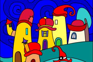 casette con il tetto rosso
